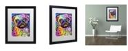 """Trademark Global Dean Russo 'Pug 92309' Matted Framed Art - 16"""" x 20"""" x 0.5"""""""