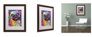 "Trademark Global Dean Russo 'Pug 92309' Matted Framed Art - 20"" x 16"" x 0.5"""