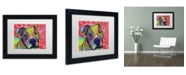 """Trademark Global Dean Russo 'Julius' Matted Framed Art - 11"""" x 14"""" x 0.5"""""""