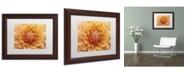 "Trademark Global Cora Niele 'Orange Dahlia' Matted Framed Art - 14"" x 11"" x 0.5"""