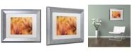 "Trademark Global Cora Niele 'Orange Tulips' Matted Framed Art - 14"" x 11"" x 0.5"""