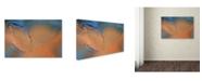 "Trademark Global Cora Niele 'Blue and Orange Flow' Canvas Art - 32"" x 22"" x 2"""