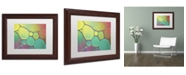 """Trademark Global Cora Niele 'Stained Glass I' Matted Framed Art - 14"""" x 11"""" x 0.5"""""""