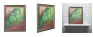"Trademark Global Cora Niele 'Stained Glass V' Ornate Framed Art - 14"" x 11"" x 0.5"""