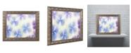 "Trademark Global Cora Niele 'Blue and White Hydrangea Flowers' Ornate Framed Art - 14"" x 11"" x 0.5"""