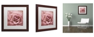 "Trademark Global Cora Niele 'Misty Rose Pink Rose' Matted Framed Art - 16"" x 16"" x 0.5"""