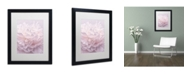 "Trademark Global Cora Niele 'Pink Peony Petals I' Matted Framed Art - 16"" x 20"" x 0.5"""
