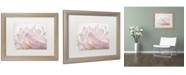 "Trademark Global Cora Niele 'Pink Peony Petals V' Matted Framed Art - 20"" x 16"" x 0.5"""