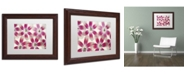 "Trademark Global Cora Niele 'Ruby Red and White Tulips' Matted Framed Art - 14"" x 11"" x 0.5"""