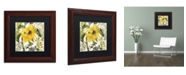 "Trademark Global Color Bakery 'Carina II' Matted Framed Art - 11"" x 0.5"" x 11"""