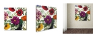 "Trademark Global Color Bakery 'Printemps III' Canvas Art - 24"" x 2"" x 24"""