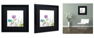"Trademark Global Color Bakery 'Avril I' Matted Framed Art - 16"" x 16"" x 0.5"""