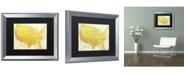 "Trademark Global Color Bakery 'American Dream II' Matted Framed Art - 20"" x 0.5"" x 16"""