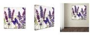 "Trademark Global Color Bakery 'Lavender I' Canvas Art - 14"" x 2"" x 14"""