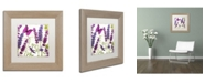 "Trademark Global Color Bakery 'Lavender II' Matted Framed Art - 11"" x 0.5"" x 11"""
