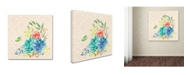 "Trademark Global Irina Trzaskos Studio 'Delicate Flowers II' Canvas Art - 35"" x 35"" x 2"""