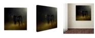 "Trademark Global Jai Johnson 'Black Angus Calf In The Moonlight' Canvas Art - 18"" x 18"" x 2"""
