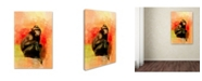 "Trademark Global Jai Johnson 'Colorful Expressions Black Monkey' Canvas Art - 47"" x 30"" x 2"""