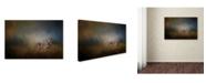 "Trademark Global Jai Johnson 'Coyote At Shiloh' Canvas Art - 47"" x 30"" x 2"""