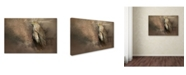 "Trademark Global Jai Johnson 'Patiently Waiting' Canvas Art - 24"" x 16"" x 2"""
