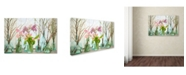 "Trademark Global Cora Niele 'Spring Flowers In Glass Bottles Vi' Canvas Art - 47"" x 30"" x 2"""