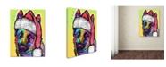 "Trademark Global Dean Russo 'German Shepherd Christmas' Canvas Art - 47"" x 35"" x 2"""