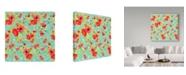 "Trademark Global Irina Trzaskos Studio 'Poppy Pattern II' Canvas Art - 35"" x 35"" x 2"""