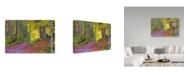 "Trademark Global Cora Niele 'Wood Walk Painting' Canvas Art - 19"" x 12"" x 2"""