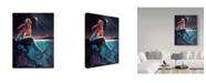 "Trademark Global D. Rusty Rust 'Mermaid' Canvas Art - 24"" x 18"" x 2"""
