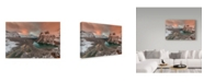 "Trademark Global David Hua 'Golden Light Over Opabin Lake' Canvas Art - 24"" x 16"" x 2"""