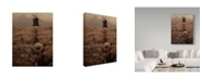 "Trademark Global David Dubnitskiy 'The Boy In The Field' Canvas Art - 32"" x 24"" x 2"""