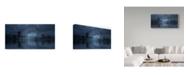 "Trademark Global David Martin Castan 'Blue River Bridge' Canvas Art - 24"" x 2"" x 12"""