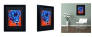 "Trademark Global DawgArt 'Lab Olive' Matted Framed Art - 14"" x 11"" x 0.5"""