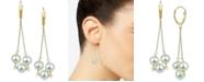 Macy's Cultured Freshwater Pearl (8-9mm) Chain Drop Earrings in 14k Gold