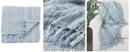 "Jaipur Living Seafarer Stripe Blue/White Throw 51"" X 67"""