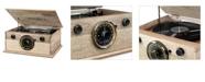 Victrola 4-in-1 Cambridge Farmhouse Modern Bluetooth Turntable with FM Radio