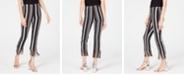 INC International Concepts I.N.C. Petite Striped Fringe-Hem Ankle Pants, Created for Macy's