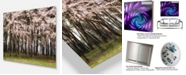 "Design Art Designart 'Cherry Blossoms In Pine Tree' Landscape Metal Wall Art - 20"" X 12"""