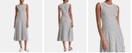 Lauren Ralph Lauren Petite A-Line Striped Cotton Dress