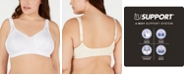 Playtex Women's 18 Hour Side and Back Smoothing Wireless Bra 4395, Online Only