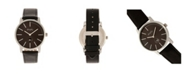 Simplify Quartz The 4700 Black Dial, Genuine Black Leather Watch 40mm