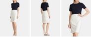 Lauren Ralph Lauren Two-Tone Crepe Dress