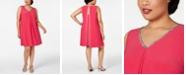 MSK Plus Size Embellished Split-Back Shift Dress