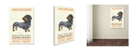 "Trademark Global Michelle Campbell 'Dachshund Print' Canvas Art - 24"" x 16"" x 2"""