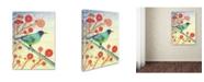 """Trademark Global Michelle Campbell 'Green Honeycreeper' Canvas Art - 47"""" x 35"""" x 2"""""""