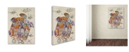 "Trademark Innovations Oxana Ziaka 'Turtle 2' Canvas Art - 47"" x 35"" x 2"""