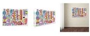"Trademark Global Miguel Balbas 'Circuits V WBG' Canvas Art - 24"" x 16"" x 2"""