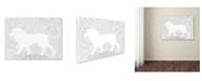 "Trademark Global Miguel Balbas 'Lion 1' Canvas Art - 32"" x 24"" x 2"""