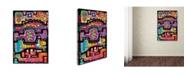"Trademark Global Miguel Balbas 'Circuits VII BBG' Canvas Art - 47"" x 30"" x 2"""