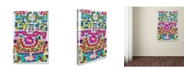 "Trademark Global Miguel Balbas 'Circuits X A' Canvas Art - 19"" x 12"" x 2"""